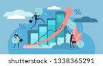 financial forecast vector... | Shutterstock .eps vector #1338365291
