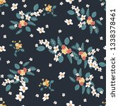seamless pattern with small... | Shutterstock .eps vector #1338378461