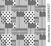 seamless pattern with squares ... | Shutterstock .eps vector #1338390527