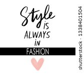 style is always in fashion  ... | Shutterstock .eps vector #1338401504