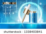 hydrating facial serum for...   Shutterstock .eps vector #1338403841