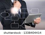 business process concept | Shutterstock . vector #1338404414