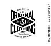 typography shirt design logo... | Shutterstock .eps vector #1338404537