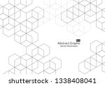 abstract boxes background.... | Shutterstock .eps vector #1338408041