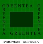 vector visual graphic of tea... | Shutterstock .eps vector #1338409877