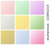 set of polka dots backgrounds | Shutterstock . vector #133842215