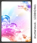 abstract vector background with ... | Shutterstock .eps vector #133842461