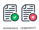 agreement color line icon.... | Shutterstock .eps vector #1338439577