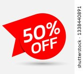 discount with the price is 50.... | Shutterstock .eps vector #1338440891