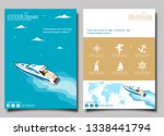 top view speed boat on water... | Shutterstock .eps vector #1338441794