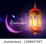 ramadan kareem lantern  islam... | Shutterstock .eps vector #1338447497