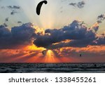 beautiful sunset of... | Shutterstock . vector #1338455261