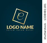 letter c gold logo concept....