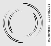 lines in circle form . spiral... | Shutterstock .eps vector #1338482291