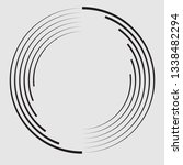 lines in circle form . spiral... | Shutterstock .eps vector #1338482294