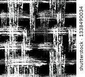 grunge cracked black and white... | Shutterstock .eps vector #1338490034