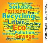 text cloud. eco wordcloud.... | Shutterstock . vector #1338494057