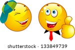 smiley icons | Shutterstock .eps vector #133849739