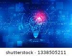 bulb future technology ... | Shutterstock . vector #1338505211