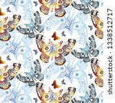 the pattern contains images of... | Shutterstock .eps vector #1338512717