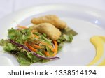 fried potato filled pastry with ... | Shutterstock . vector #1338514124