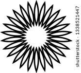 flower flat shape ornament ... | Shutterstock .eps vector #1338521447