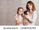 mother and children newborn and ...   Shutterstock . vector #1338524294
