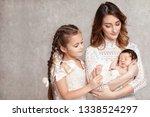 mother and children newborn and ...   Shutterstock . vector #1338524297