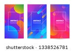 abstract waves bubble fluid... | Shutterstock .eps vector #1338526781
