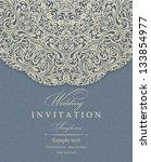 wedding invitation cards... | Shutterstock .eps vector #133854977