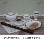 english teacup with saucer ... | Shutterstock . vector #1338551441