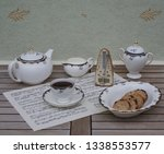 english teacup with saucer ... | Shutterstock . vector #1338553577