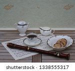 english teacup with saucer ... | Shutterstock . vector #1338555317