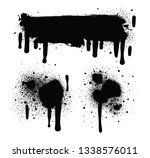 spray paint isolated on white...   Shutterstock . vector #1338576011