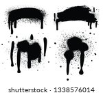 spray paint isolated on white... | Shutterstock . vector #1338576014