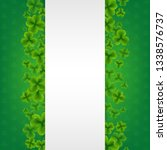 banner with clovers green... | Shutterstock . vector #1338576737