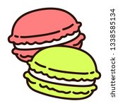 outlined two pastel colored... | Shutterstock .eps vector #1338585134
