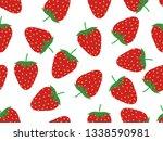 seamless pattern of fresh...   Shutterstock .eps vector #1338590981