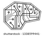 digital brain  thin line icon.... | Shutterstock .eps vector #1338599441
