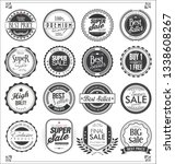 retro vintage badges and labels ... | Shutterstock .eps vector #1338608267