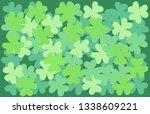 leaf clover  background vector... | Shutterstock .eps vector #1338609221