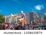 valencia  spain  march 9 2019 ... | Shutterstock . vector #1338610874