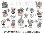 cute hand drawn set of... | Shutterstock .eps vector #1338629387