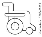 disabled chair thin line icon....   Shutterstock .eps vector #1338635651