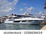 white luxury motor yacht | Shutterstock . vector #1338638414