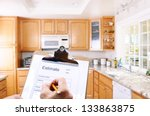 closeup of a contractors... | Shutterstock . vector #133863875