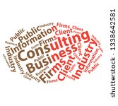 text cloud. business wordcloud. ... | Shutterstock .eps vector #1338642581