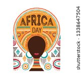 africa day  vector illustration ... | Shutterstock .eps vector #1338647504