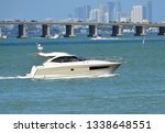 high end cabin cruiser on the... | Shutterstock . vector #1338648551