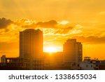 golden light of the sunset...   Shutterstock . vector #1338655034